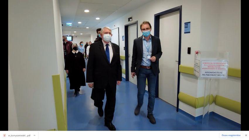Poszt-Covid-részleg nyílt a Szent Ferenc Kórházban