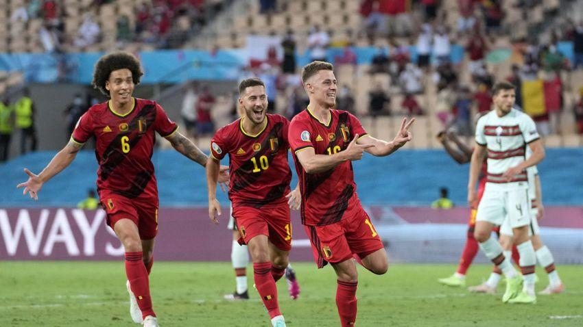 A belgák hazaküldték Ronaldóékat az Európa-bajnokságról