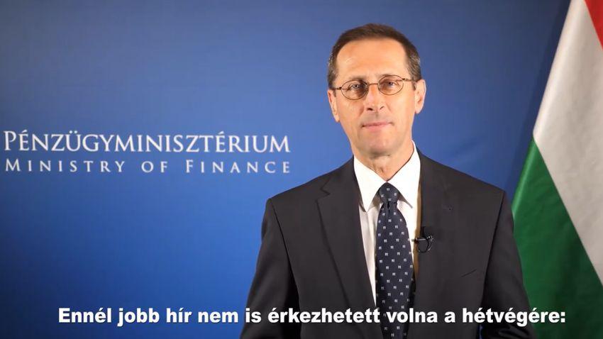Varga Mihály: Erős és világos visszajelzés a Moody's felminősítése + videó