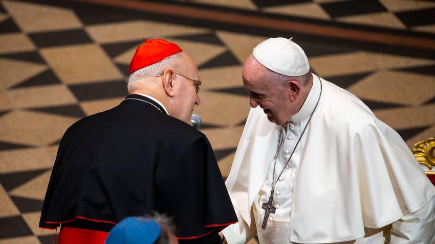 Ferenc pápa magánkihallgatáson fogadta Erdő Péter bíborost