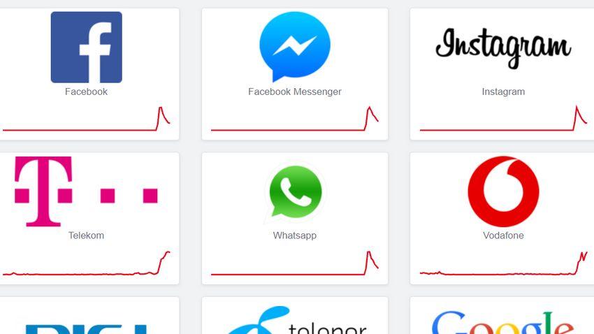 Nemcsak a Facebook állt le, a fél internet nem működik