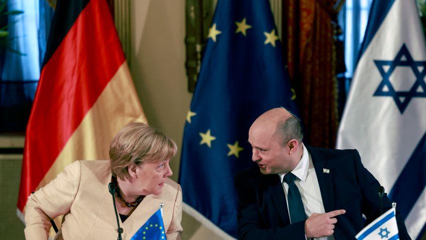 Megköszönték Merkel munkáját az izraeli vezetők